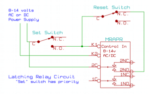 Latching relay circuit schematic