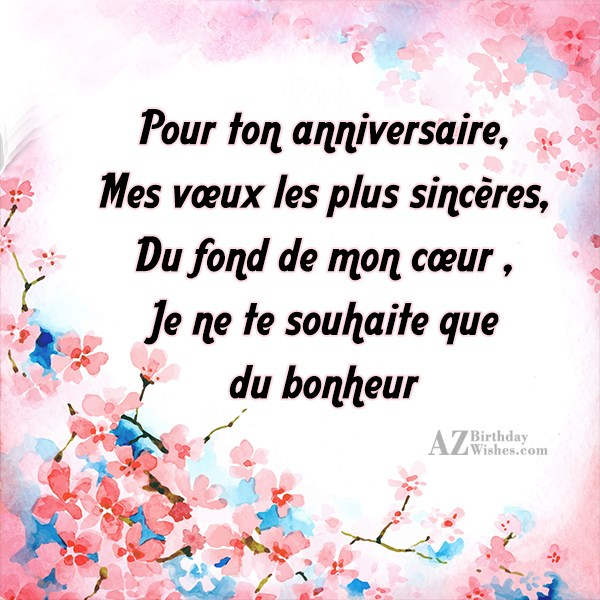 Birthday wishes in french m4hsunfo