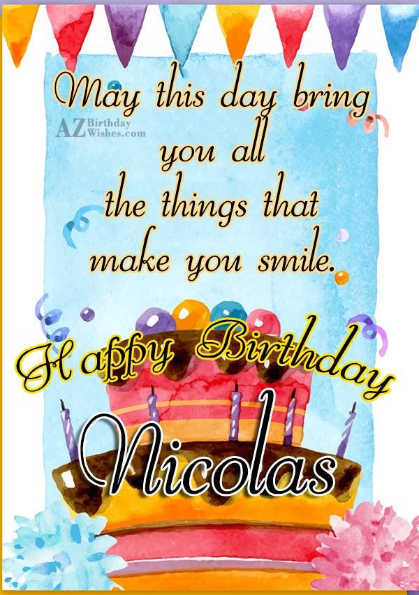 Happy Birthday Nicolas