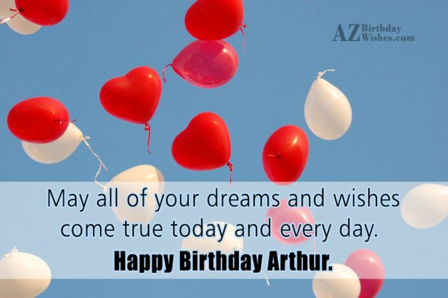 Happy Birthday Arthur