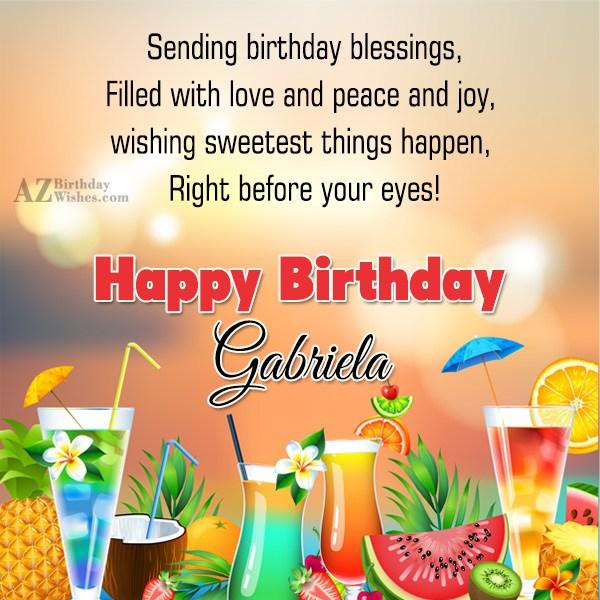 Happy Birthday Gabriela