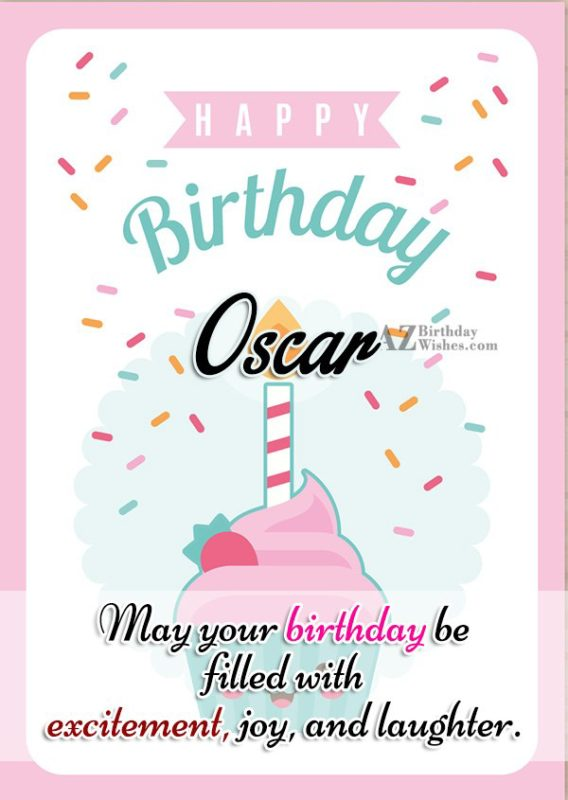 Happy Birthday Oscar