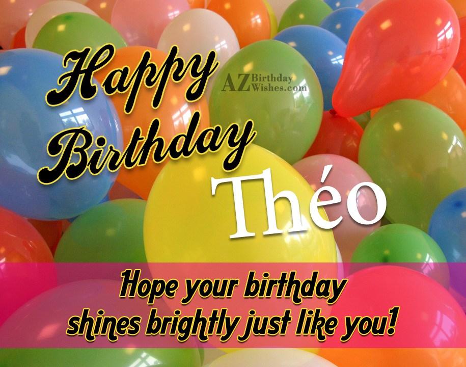 Happy Birthday Theo