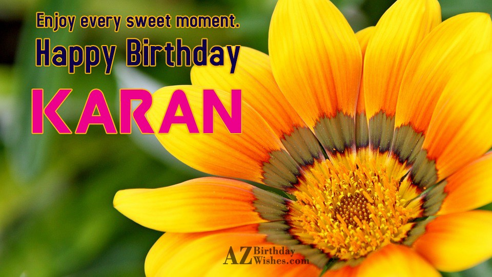 Happy Birthday Karan