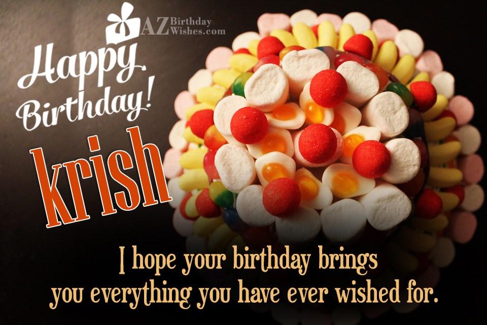 Happy Birthday Krish