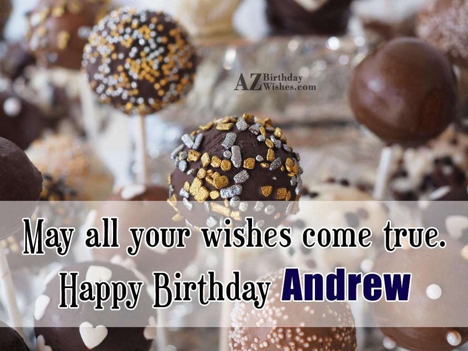 Happy Birthday Andrew