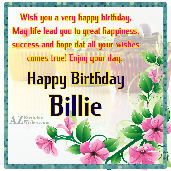 Happy Birthday Billie