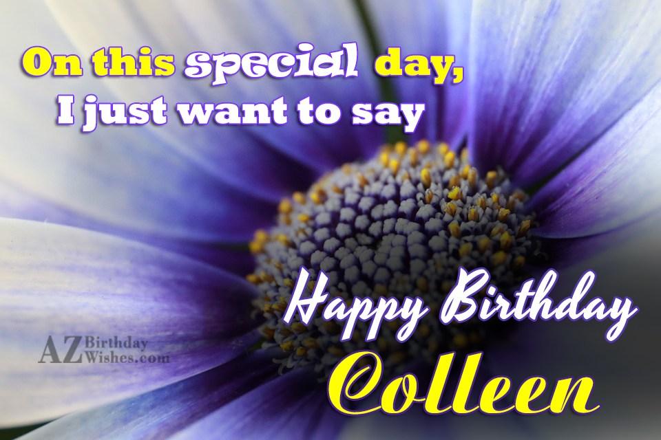 Happy Birthday Colleen