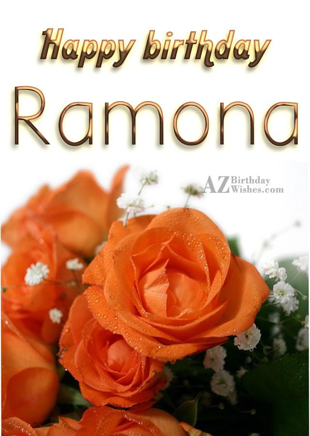 Happy Birthday Ramona