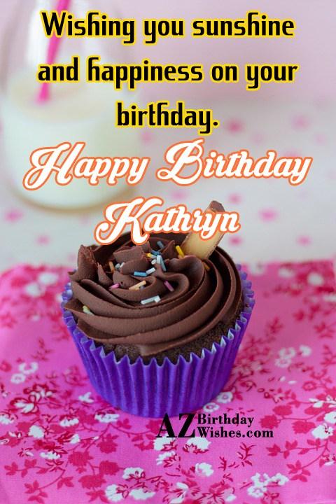 Happy Birthday Kathryn