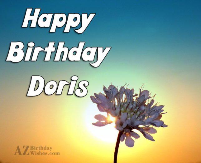Happy Birthday Doris