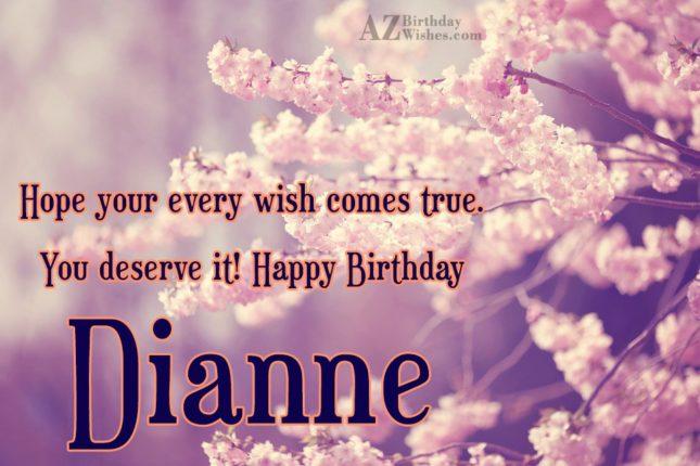 Happy Birthday Dianne