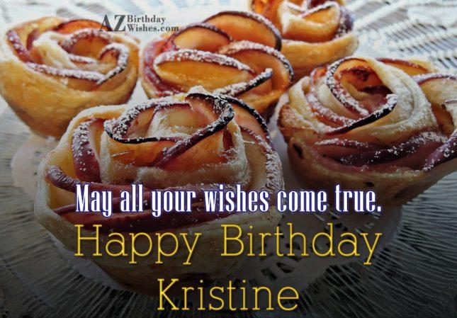 Happy Birthday Kristine