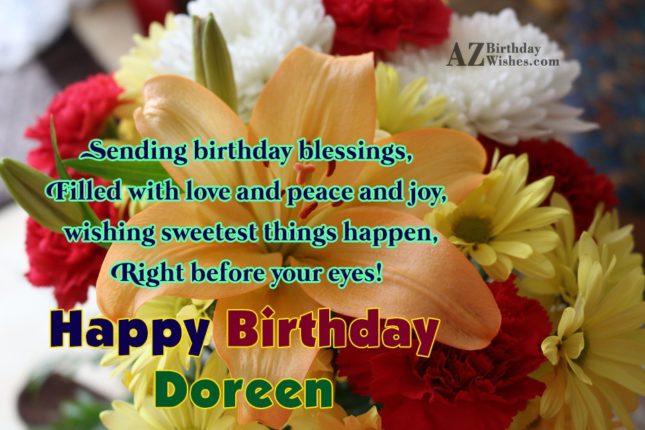 Happy Birthday Doreen