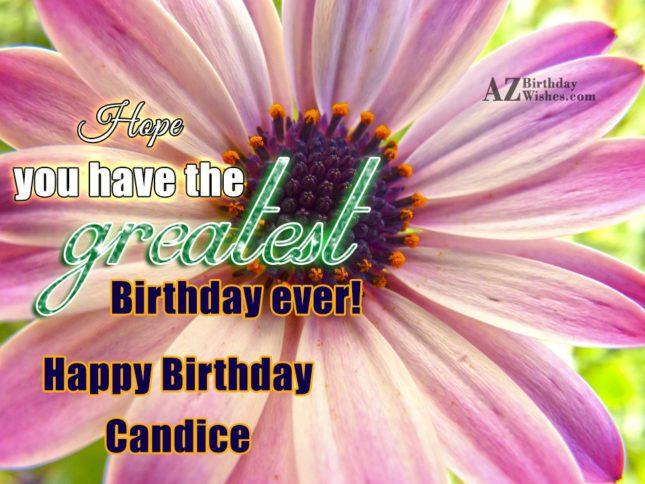 Happy Birthday Candice