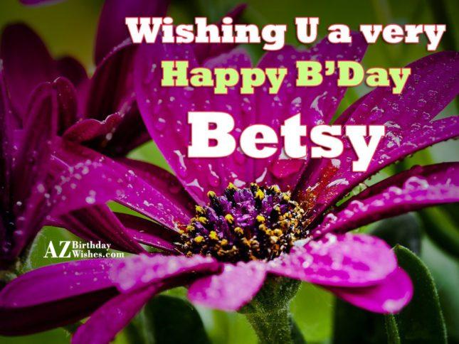 Happy Birthday Betsy