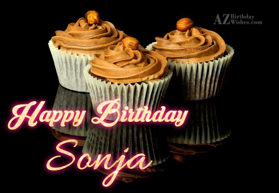 Happy Birthday Sonja