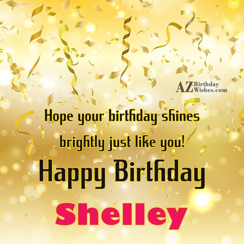 Happy Birthday Shelley