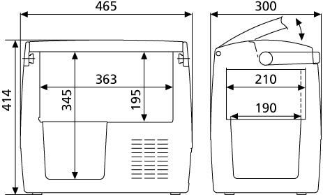 DOMETIC WAECO compressor Cooler cdf18 CoolFreeze 12/24