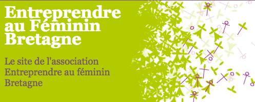 Logo Réseau Entreprendre au Féminin Bretagne