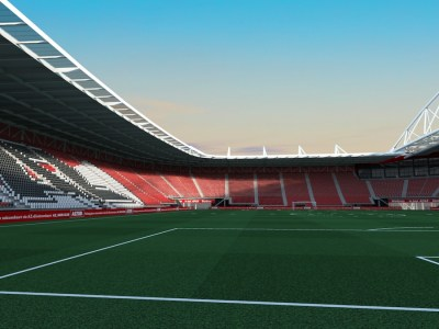 Benieuwd naar het verbouwde AFAS-Stadion van AZ? Bekijk de 3D-impressies van het vernieuwde stadion in Alkmaar.