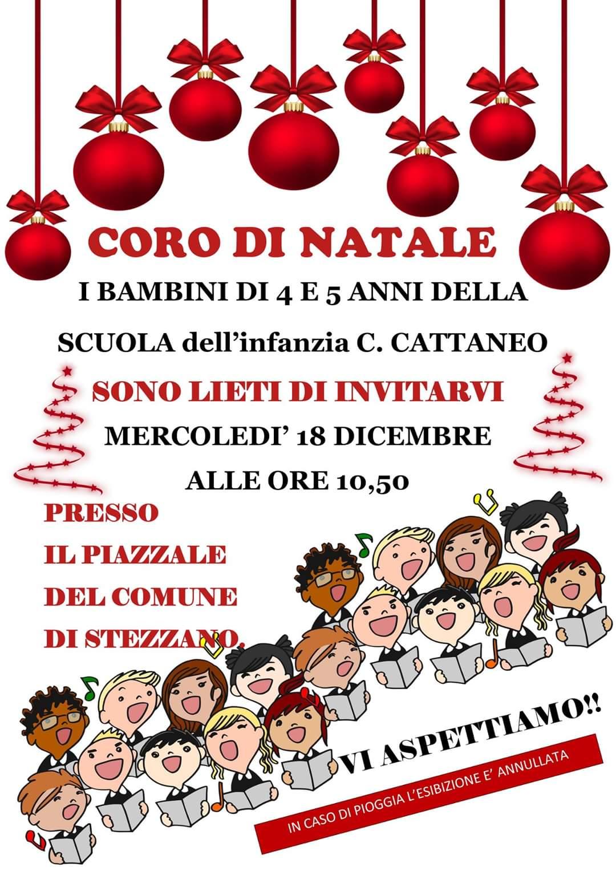 Coro Di Natale.Coro Di Natale Scuola Dell Infanzia Cattaneo Stezzano Eventi