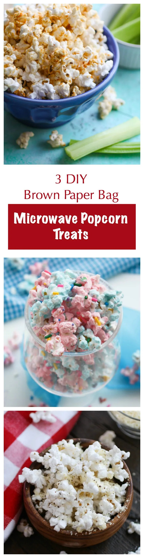 3 diy brown paper bag microwave popcorn treats