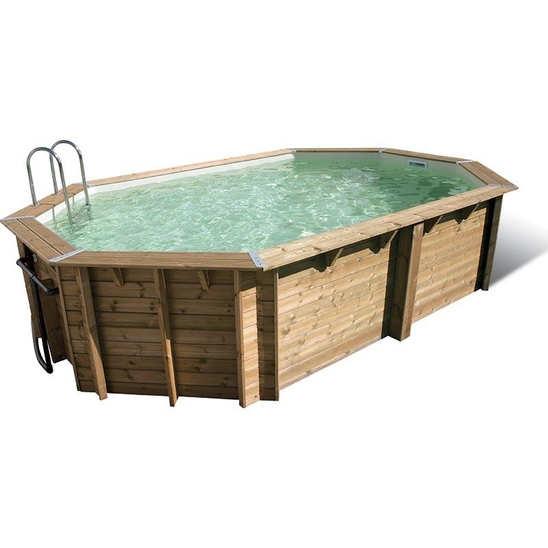 piscine bois 5 50 x 4 00 x h1 20m lagon coloris du liner bleu