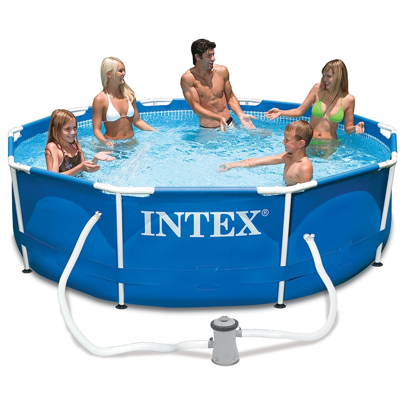 piscine tubulaire intex ronde metal frame 3 05 x h0 76m