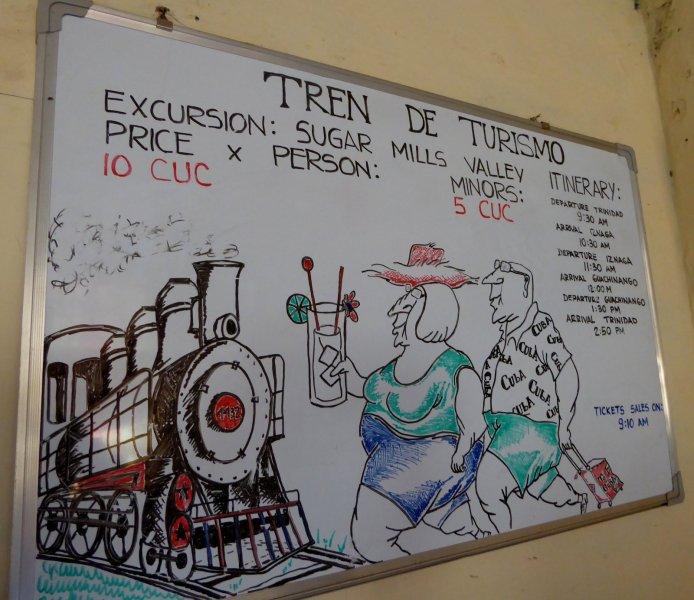 Tja, zo zien de Cubanen ons toeristen... Trinidad