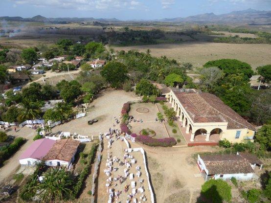 Uitzicht vanaf de Manaca Iznaga. Valle de los Ingenios