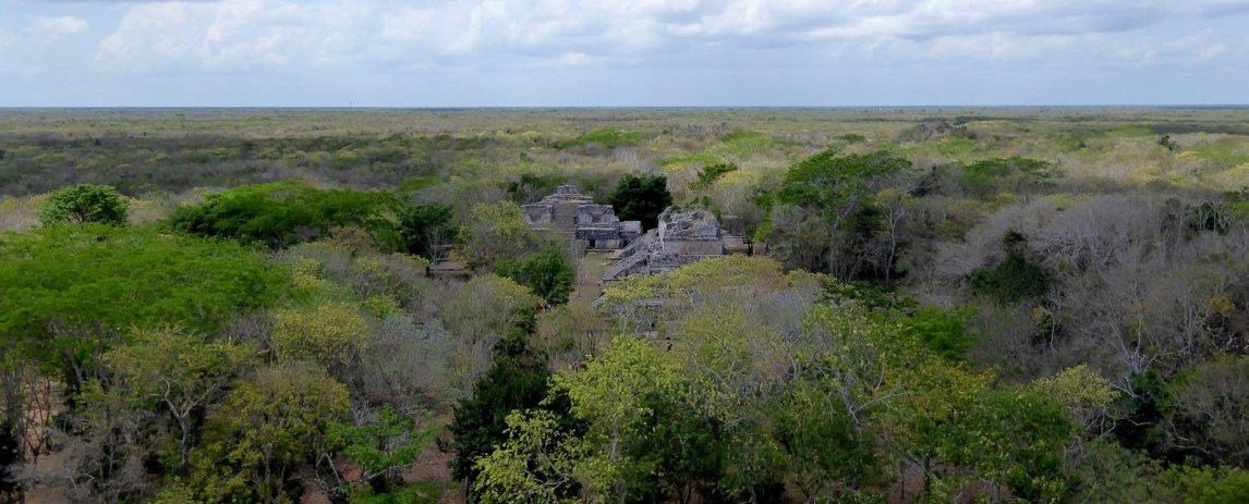 De verstopte, maar zeker niet minder indrukwekkende, piramides van Ek'Balam