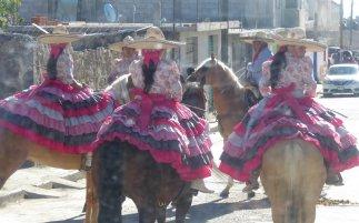 Traditionele chica's. Huamntla