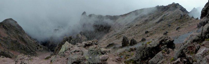Soort van uitzicht als de mist even wegtrekt. La Malinche