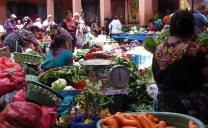 Meer markt. Chichicastenango