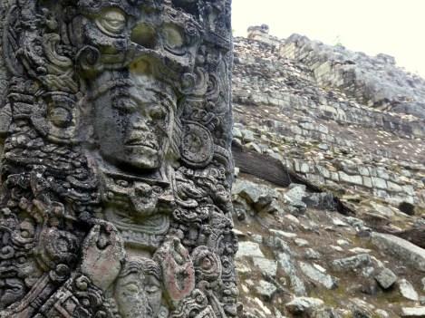 Freaky sculptuur. Copán