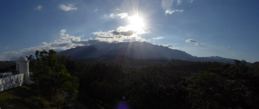 Zonsondergang vanaf het fort in Gracias.