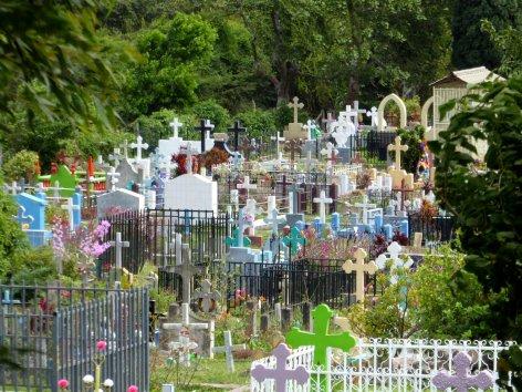 Kleurrijke bedoeling de kerkhoven in Nica. Jinotega
