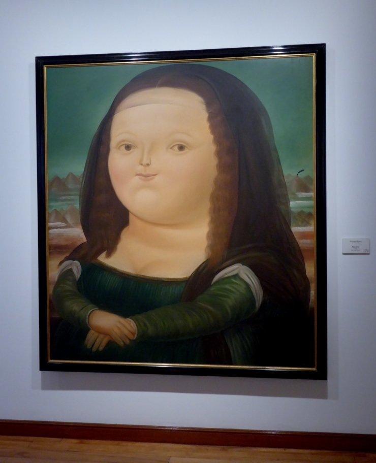 André's Rundvlees grootste fan Mona Lisa. Museo Botero, Bogota (Colombia)
