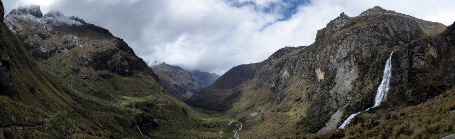 De mooie vallei onderweg naar laguna 69.