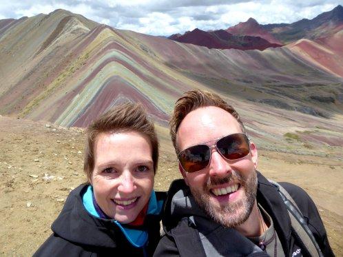 Hep'ie us bij de Rainbow Mountain.