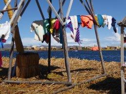 Was ophangen doe je op de uitkijktoren. Islas Uros