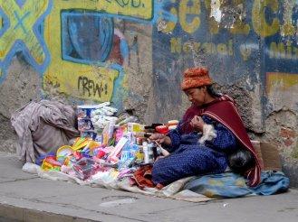 Straatkraampje in La Paz.