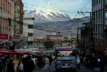 Straatbeeldje in La Paz.