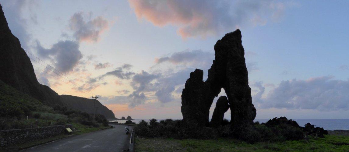 Lanyu island staat vol met dit soort rotsformaties.