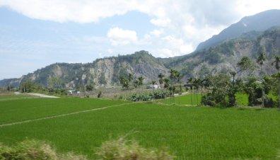 Typisch Taiwanees landschap. Onderweg naar Taitung