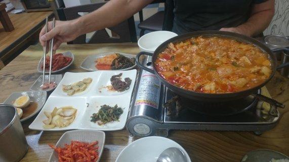 The not so spicy spicy chicken... Haeundae, Korea