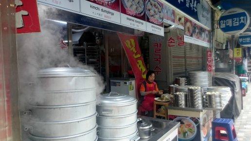 Koreaanse dumplings. Haeundae, Korea