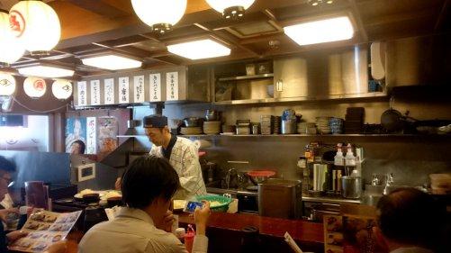 Typisch lunch tentje. Tokio, Japan