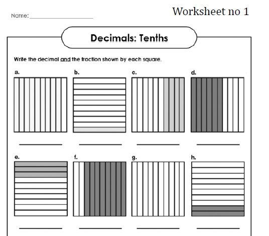 All Worksheets » Fractions Tenths And Hundredths